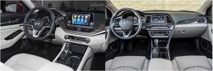 So sánh Nissan Teana 2019 và Hyundai Sonata 2019 về nội thất 1...