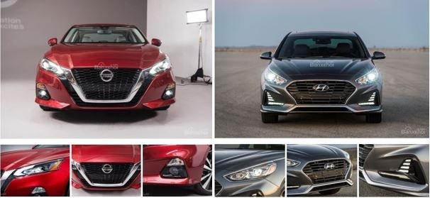 So sánh Nissan Teana 2019 và Hyundai Sonata 2019 về thiết kế 1...