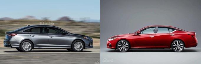 So sánh Nissan Teana 2019 và Hyundai Sonata 2019 về thiết kế 2...
