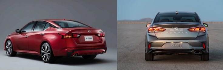 So sánh Nissan Teana 2019 và Hyundai Sonata 2019 về thiết kế 3...
