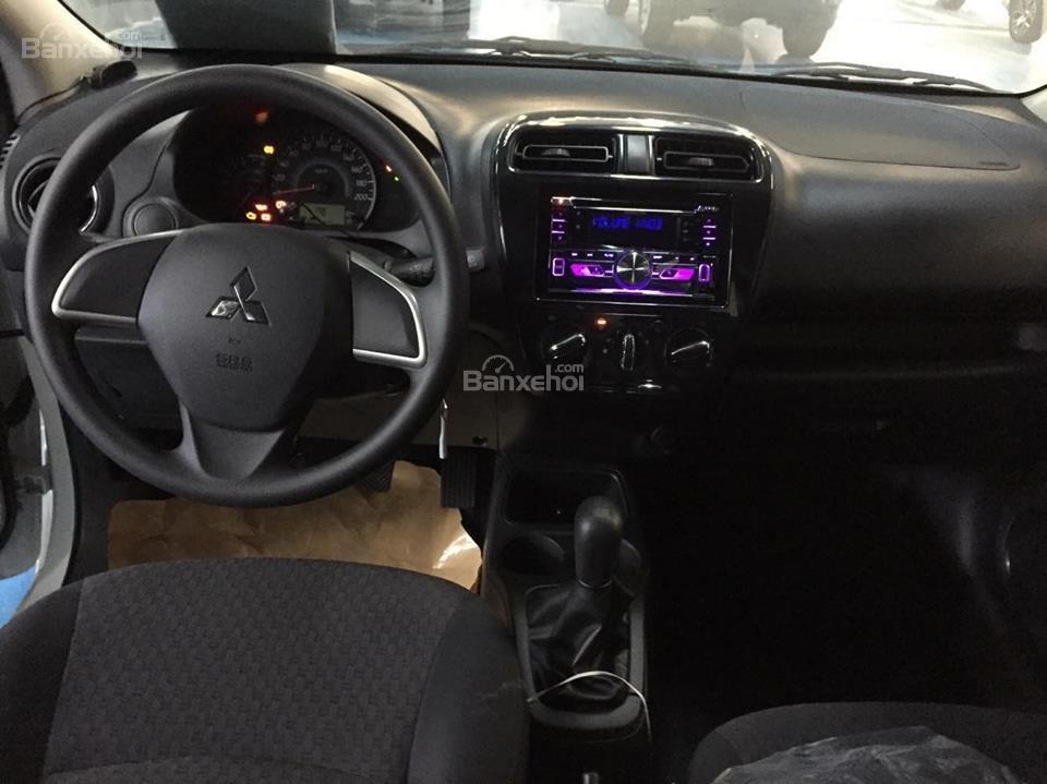 [Siêu giảm] Mitsubishi Mirage giá cực rẻ, màu trắng, nhập khẩu Thái, lợi xăng 5L/100km, cho góp 80%-4