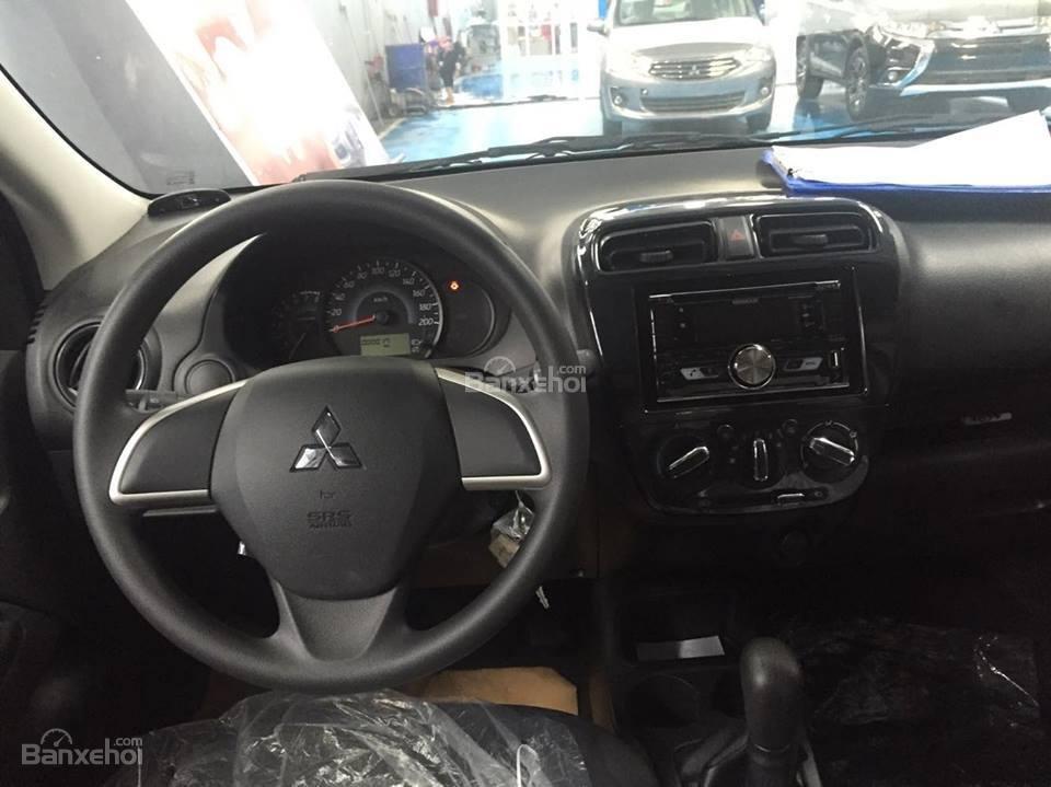 [Siêu giảm] Mitsubishi Mirage giá cực rẻ, màu trắng, nhập khẩu Thái, lợi xăng 5L/100km, cho góp 80% (8)