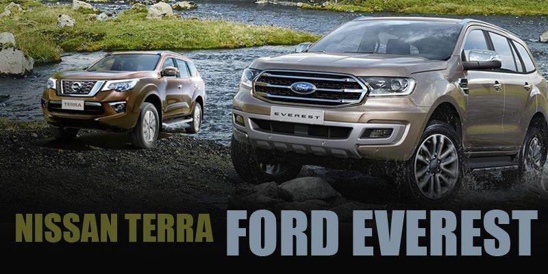So sánh xe Nissan Terra 2019 và Ford Everest 2019: Tiền nào của nấy.