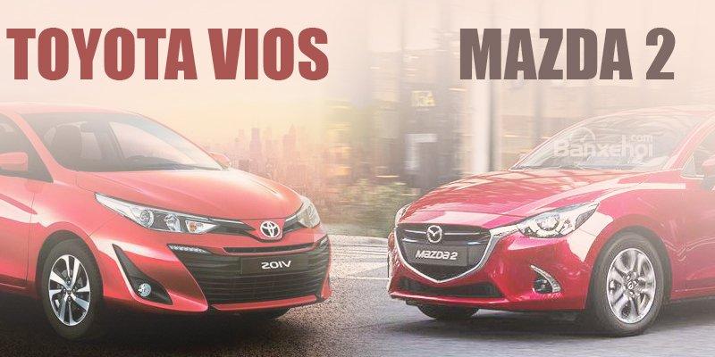 Đắt hơn 70 triệu, Toyota Vios 2019 có đáng mua hơn Mazda 2 2019 hay không?.