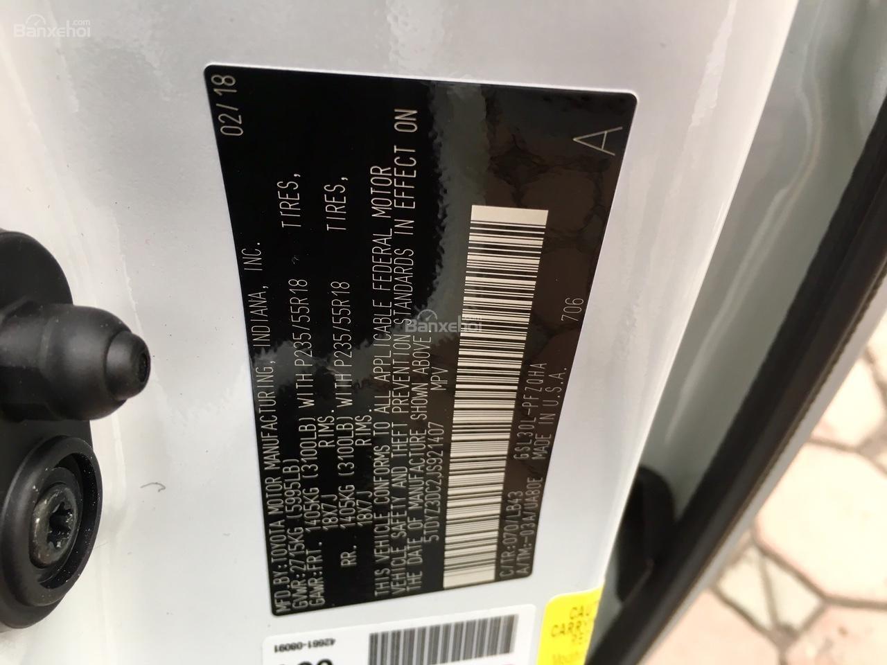 Bán Toyota Sienna Limited sx 2019, nhập khẩu Mỹ, LH Ms Hương: 0945392468-6