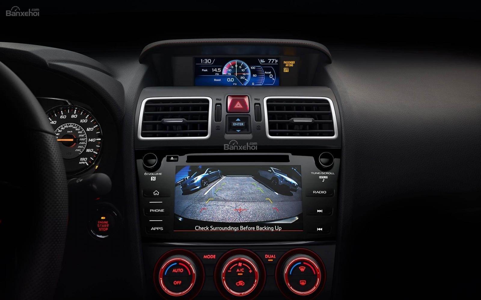 Đánh giá xe Subaru WRX 2019 bản Mỹ - màn hình - 1c