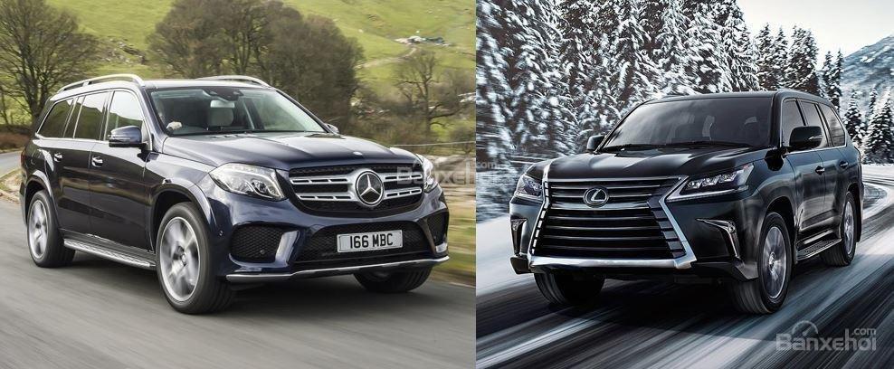 So sánh Lexus LX 570 2018 và Mercedes-Benz GLS 2018 về ngoại thất...