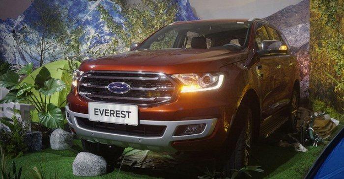 Đánh giá xe Ford Everest Titanium 2.0L Bi-Turbo 2019: Đầu xe.