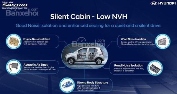 Khoang cabin Hyundai Santro yên tĩnh hơn ...