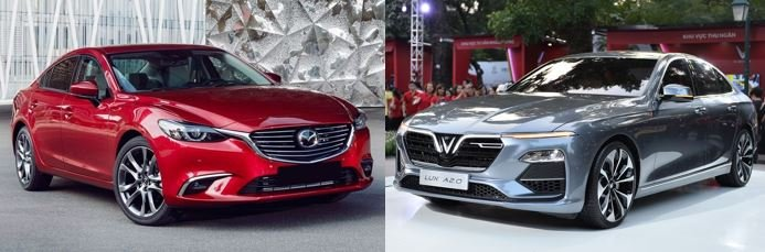 So sánh VinFast LUX A2.0 và Mazda 6 về ngoại thất 1...