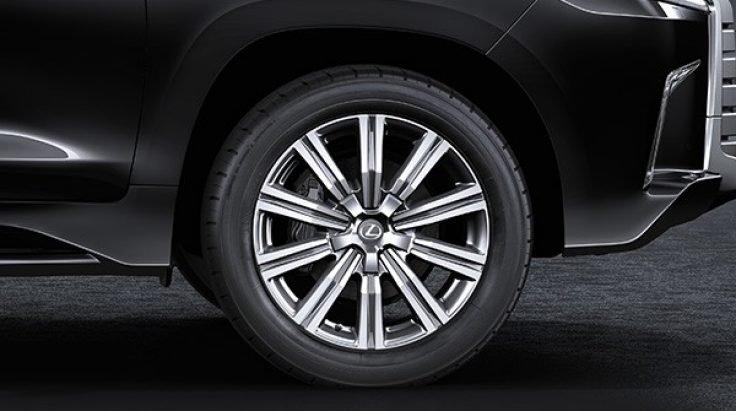 Đánh giá xe Lexus LX 570 2019: La-zăng hợp kim, đa chấu, 21 inch 1