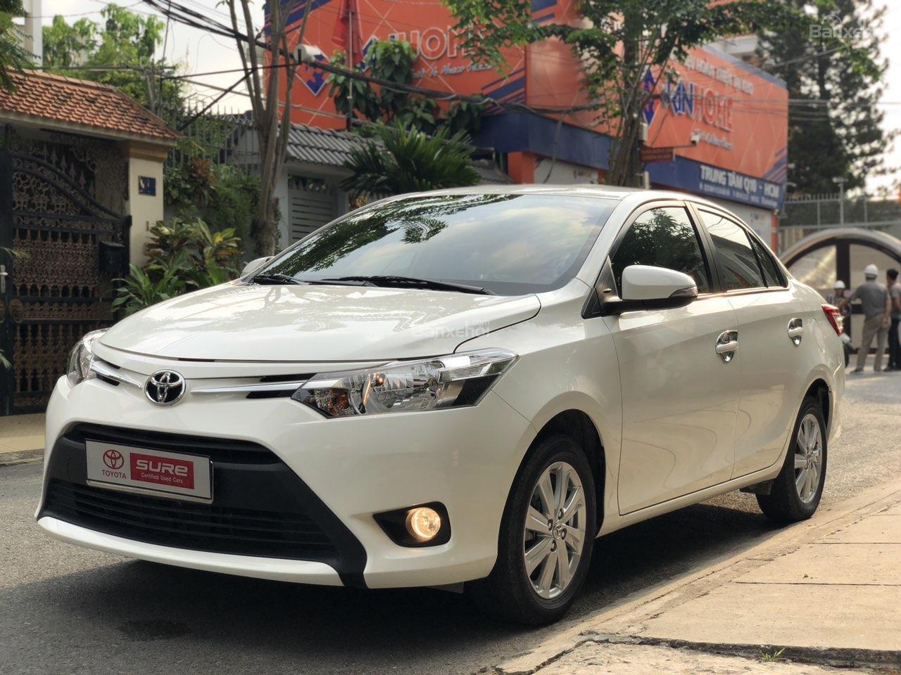 Bán xe Toyota Vios 1.5G AT đời 2017, màu trắng (1)