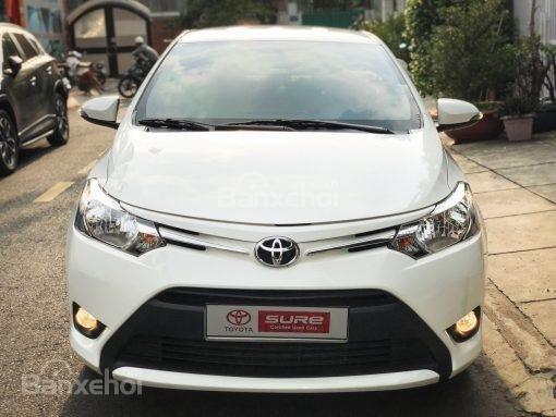 Bán xe Toyota Vios 1.5G AT đời 2017, màu trắng (6)