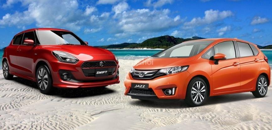 So sánh Suzuki Swift 2019 và Honda Jazz 2019 về ngoại thất ...