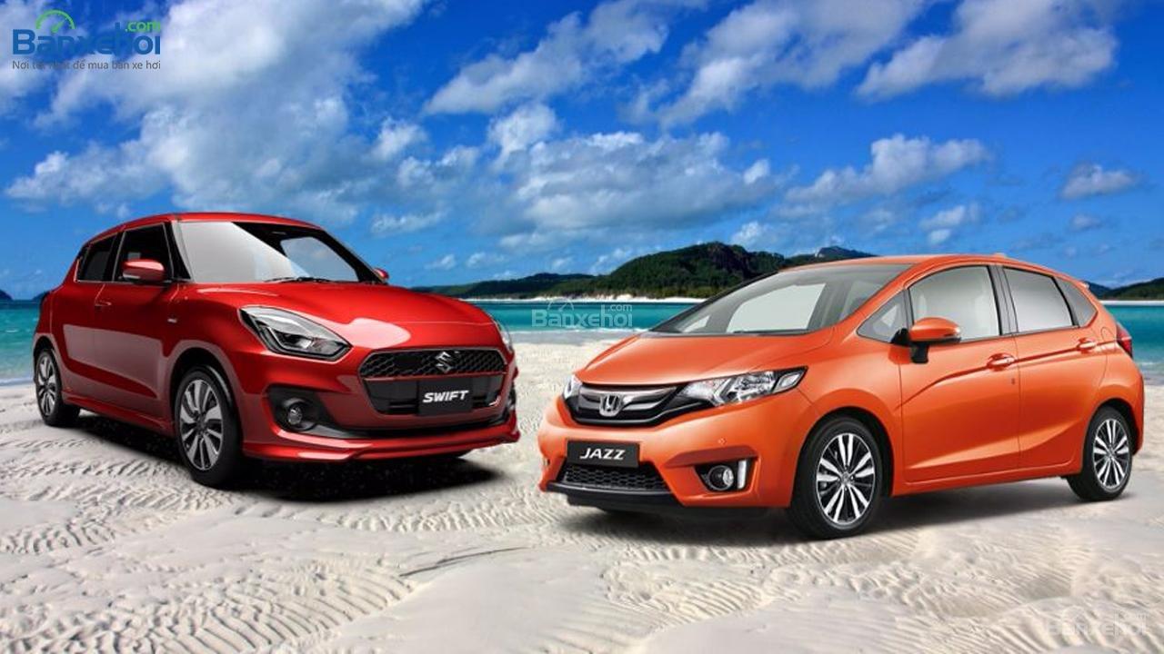 Suzuki Swift GLX và Honda Jazz RS: Bản cao cấp có gì? a1