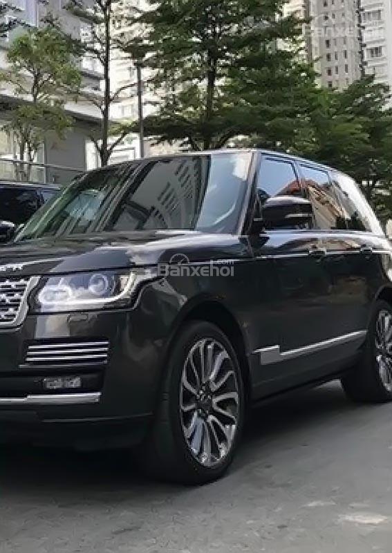 Bán LandRover Range Rover sản xuất năm 2015, màu đen, nhập khẩu nguyên chiếc-0