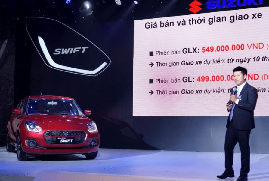 Ảnh chụp xe Suzuki Swift 2019-2020 từ trước