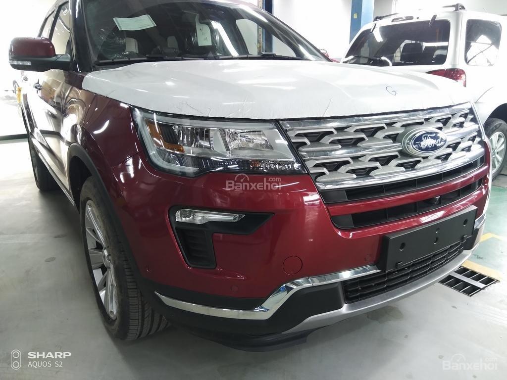 Bán Ford Explorer Limited đỏ, đen, lăn bánh giao ngay, ưu đãi chính hãng-0