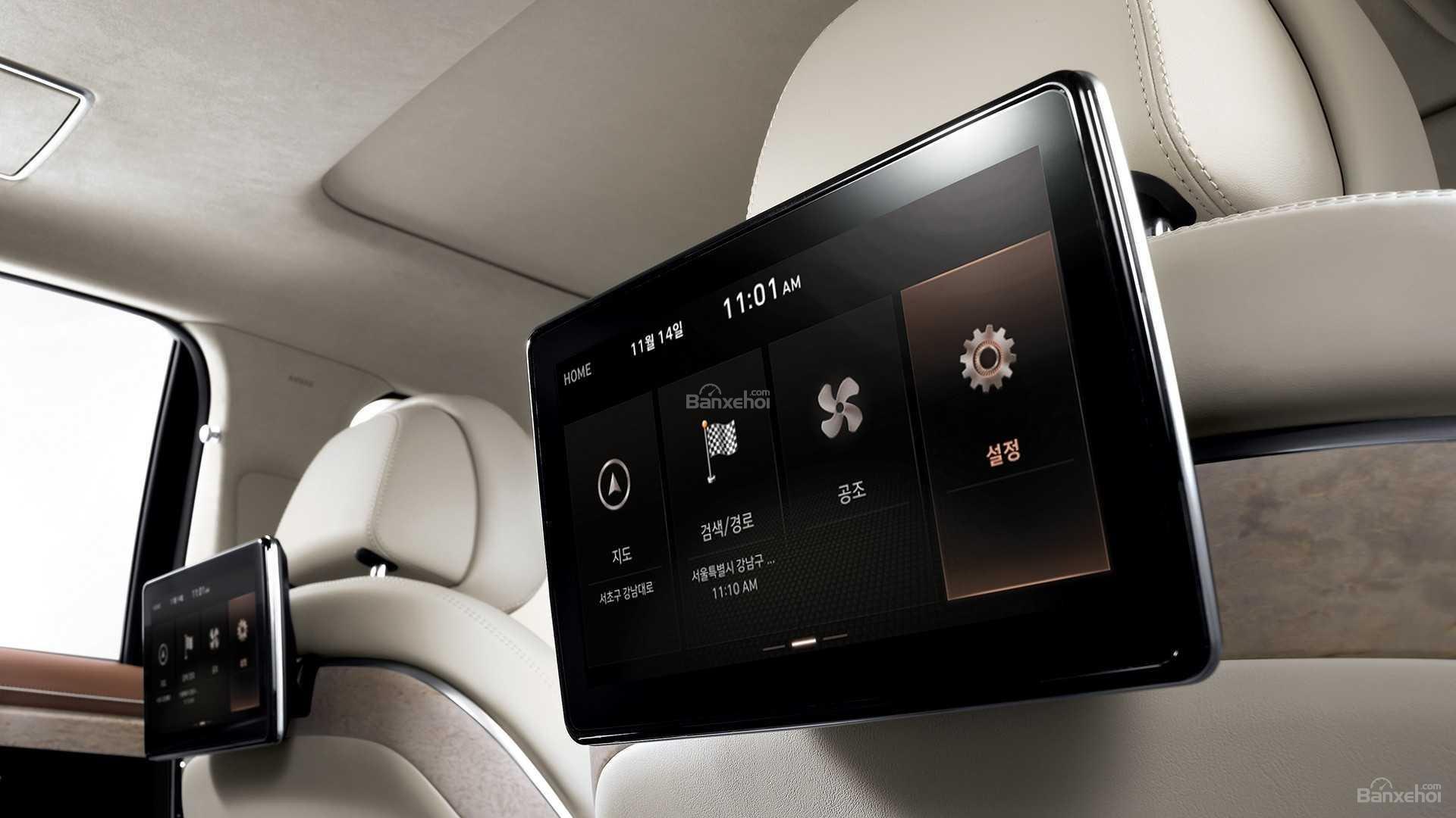 Đánh giá xe Genesis G90 2020 về trang bị tiện nghi.