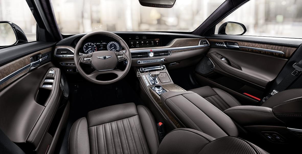 Đánh giá xe Genesis G90 2020 về thiết kế nội thất.
