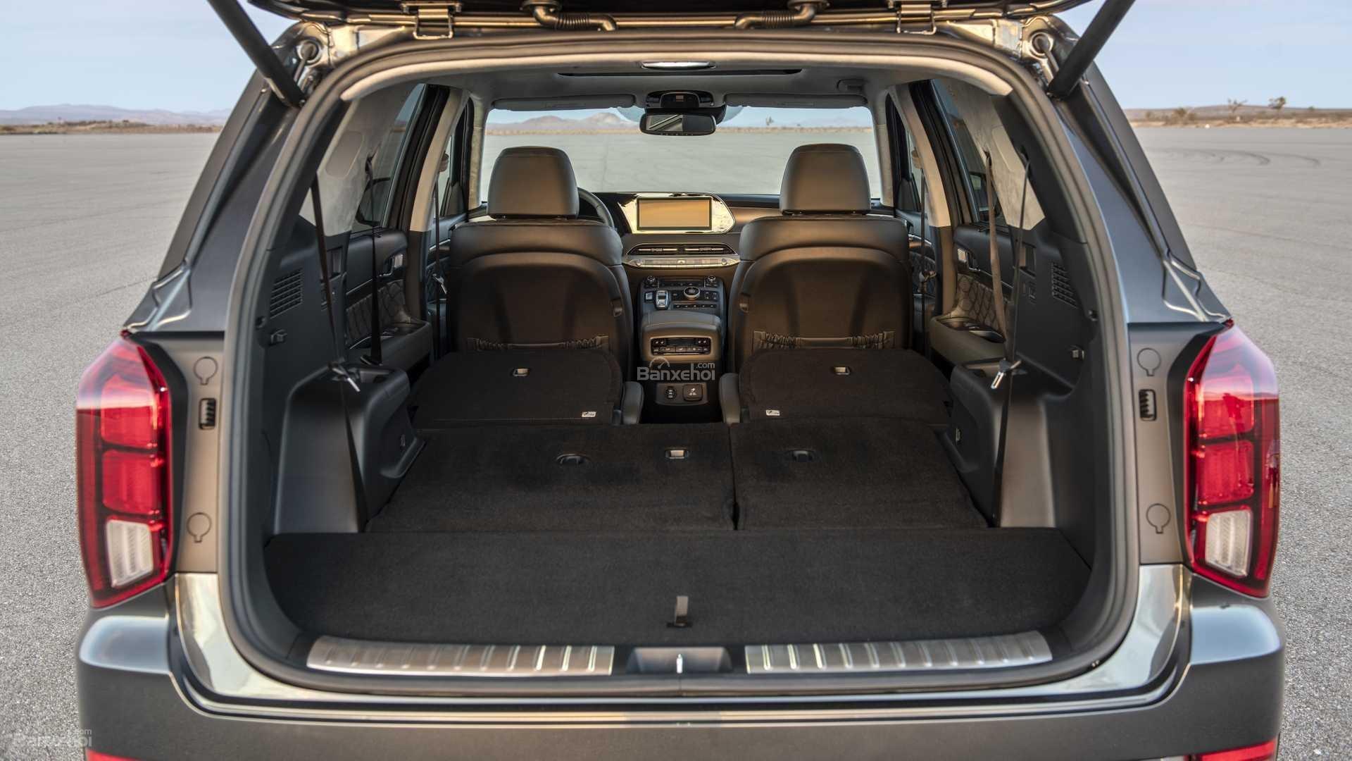 Đánh giá xe Hyundai Palisade 2020 về khoang hành lý.