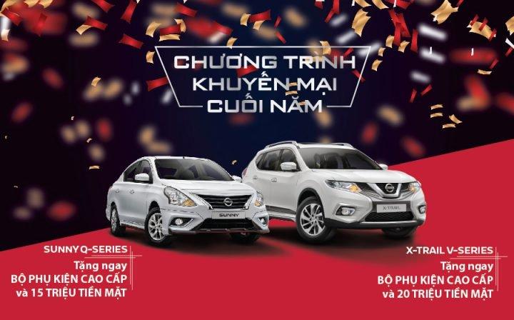 Bán ế, Nissan tiếp tục khuyến mại tháng 12/2018 cho X-Trail và Sunny đến 20 triệu đồng a1