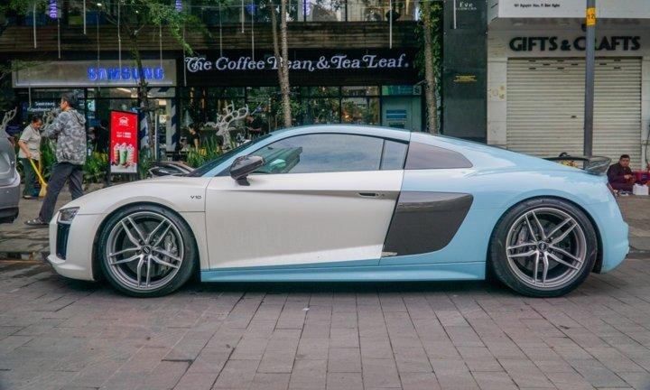 Bắt gặp Audi R8 V10 Plus màu độc của Cường Đô-la dạo phố Sài Gòn a2