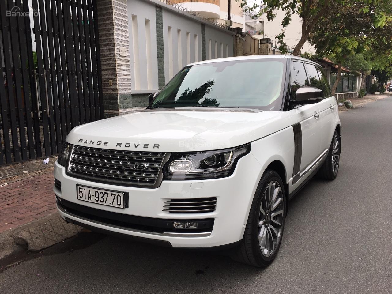 Cần bán xe LandRover Range Rover Autobiography 3.0 năm 2014, màu trắng -0