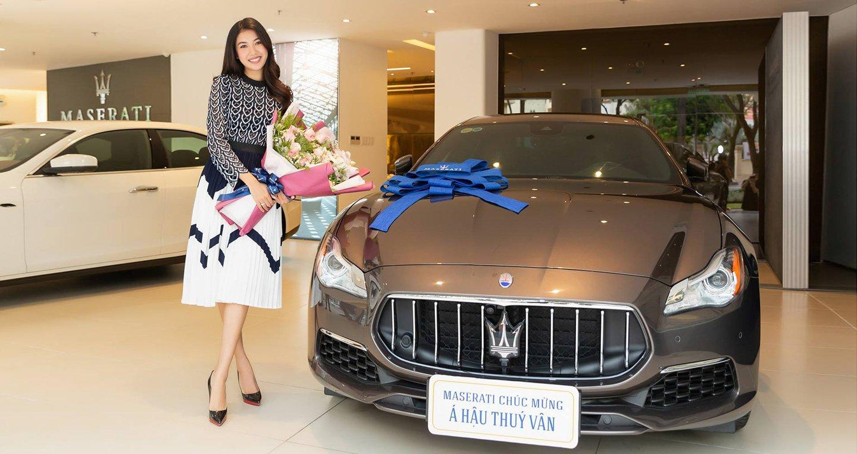 Ngắm xe sang Maserati Quattroporte GranLusso gần 8 tỷ đồng của Á hậu Thúy Vân 1.