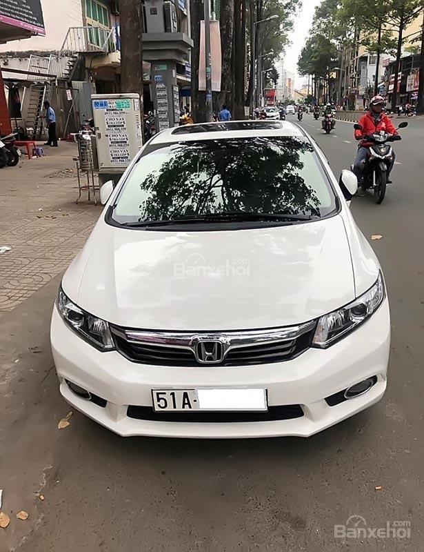 Bán ô tô Honda Civic 2.0 AT năm 2014, màu trắng như mới  (1)