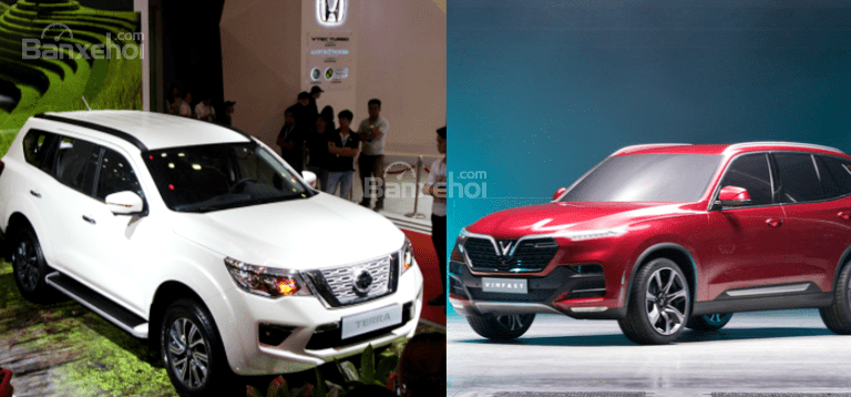 Nissan Terra V 2019 và VinFast LUX SA2.0 cao cấp 2019