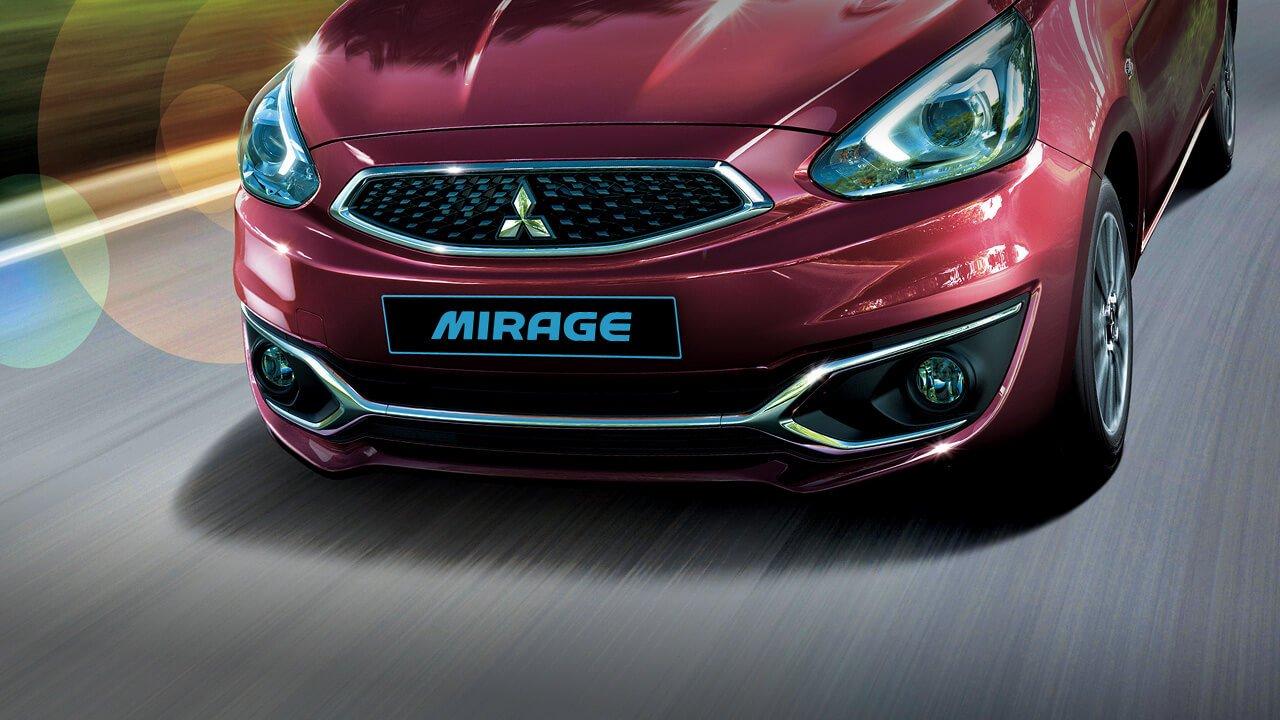 Đánh giá xe Mitsubishi Mirage 2019 CVT: Cản trước viền crom 1