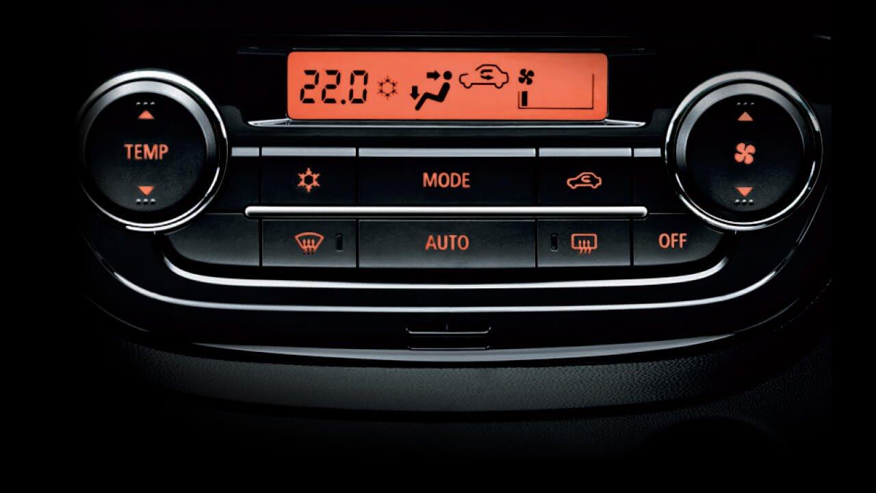 Đánh giá xe Mitsubishi Mirage 2019 CVT: Điều hoà tự động 1