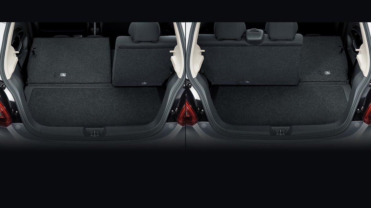 Đánh giá xe Mitsubishi Mirage 2019 CVT: Khoang chứa đồ rộng 487 L và có thể mở rộng thêm 1