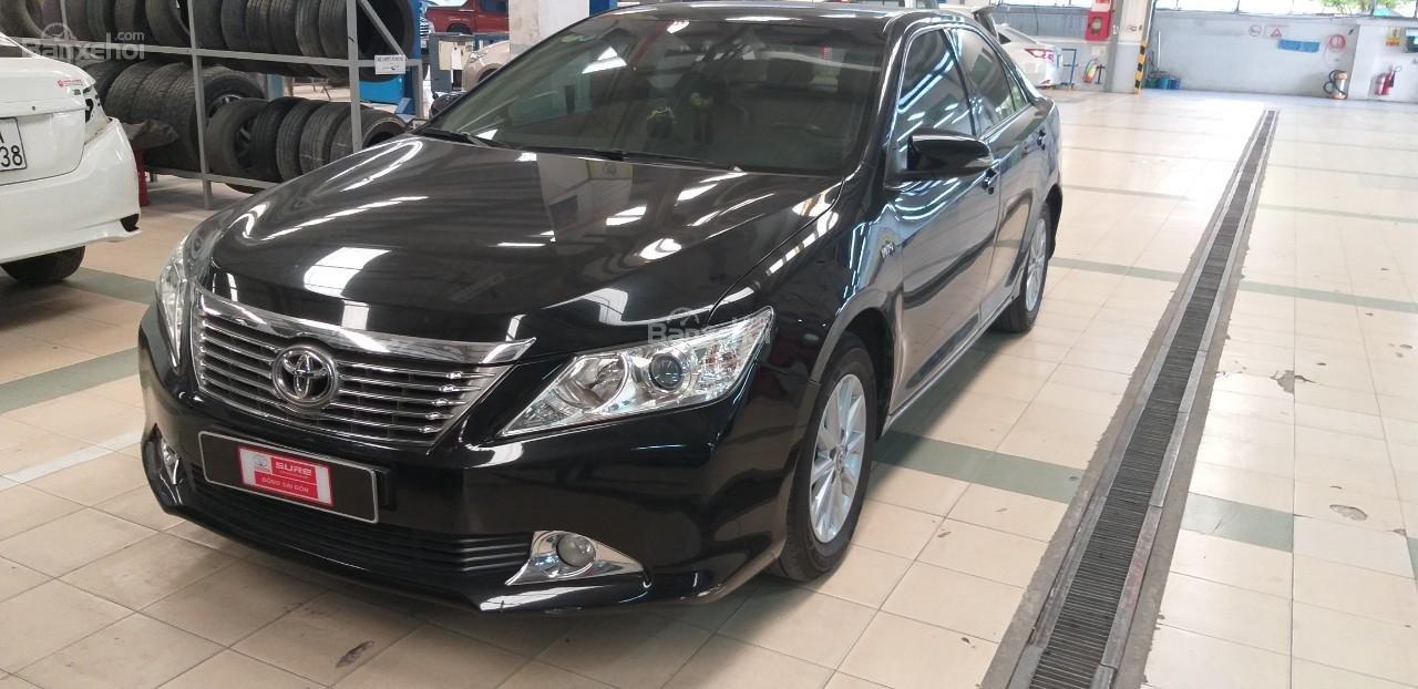 Bán Toyota Camry 2.0E đời 2012, màu đen giá thương lượng khi xem mua xe-0