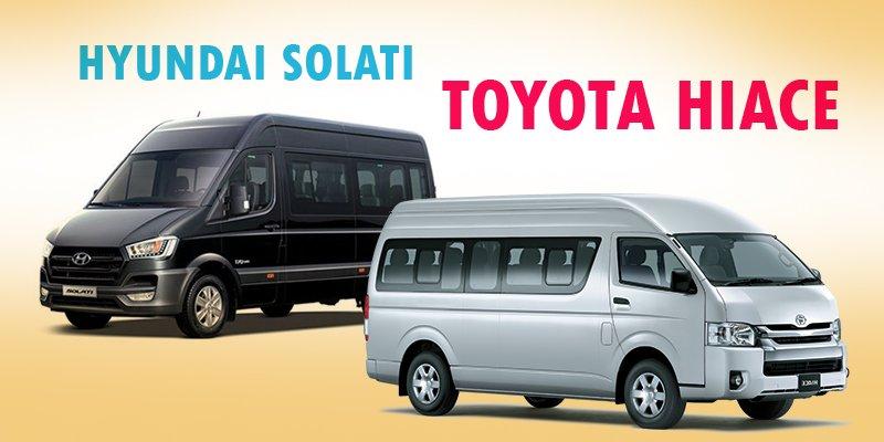 Mua xe 16 chỗ, nên chọn Hyundai Solati hay Toyota Hiace cho phải?.