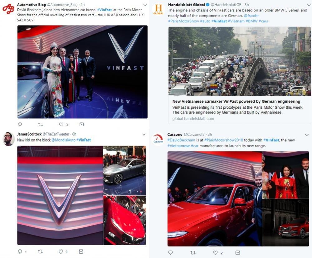 VinFast là cái tên được nhắc đến nhiều nhất của ngành ô tô thế giới