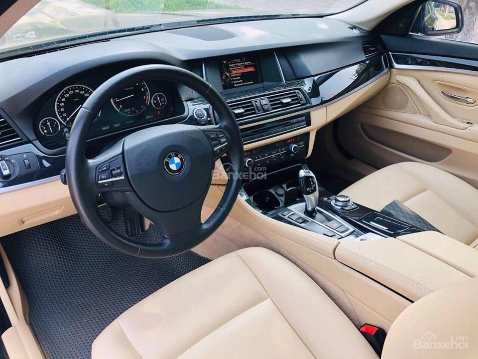 Bán ô tô BMW 5 Series 520i sản xuất năm 2015, màu đen, nhập khẩu nguyên chiếc-10