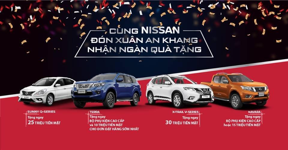 Tưng bừng đón năm mới, Nissan giảm giá hàng loạt mẫu xe từ ngày 24-31/12/2018.