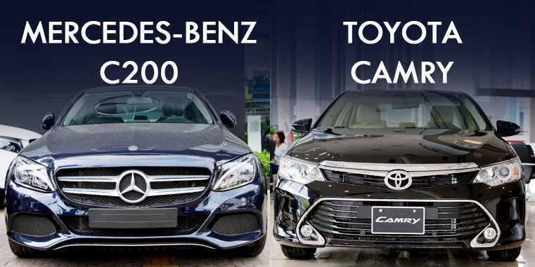 So sánh Mercedes-Benz C200 2019 và Toyota Camry 2019: Đại chiến xe sang Đức - Nhật.