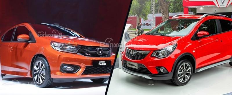 So sánh Honda Brio 2019 và VinFast Fadil 2020.