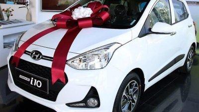 Bán Hyundai Grand i10 đời 2018, màu trắng, xe giao ngay-0