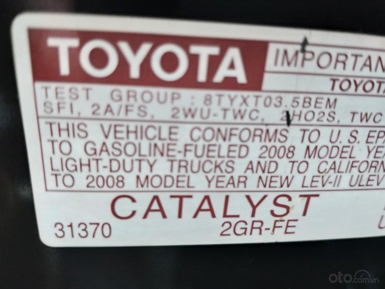 Bán Toyota Sienna LE 2008, màu vàng, nhập khẩu còn rất mới, 685 tr-7