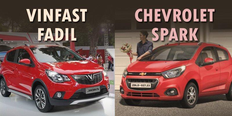Chevrolet Spark 2019 và Vinfast Fadil 2019 giống và khác nhau ở đâu?.