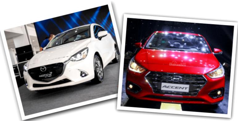 Hyundai Accent 1.4 AT Đặc biệt và Mazda 2 Hatchback SE 2019