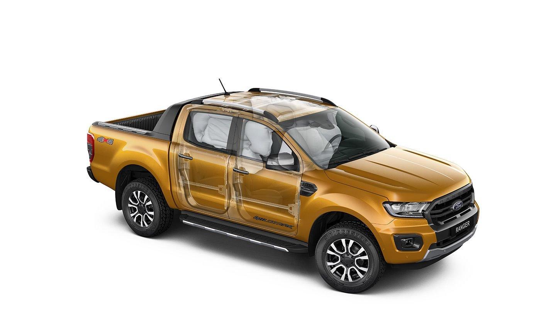Ford Ranger Wildtrak 2019 sở hữu nhiều trang bị an toàn.