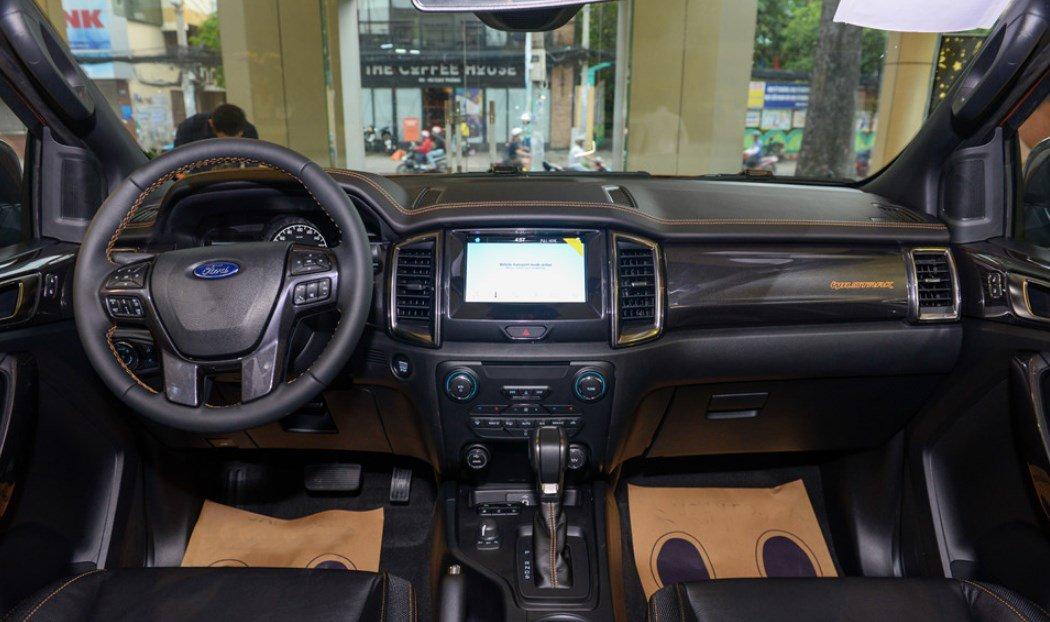 Nội thất xe Ford Ranger Wildtrak 2019.