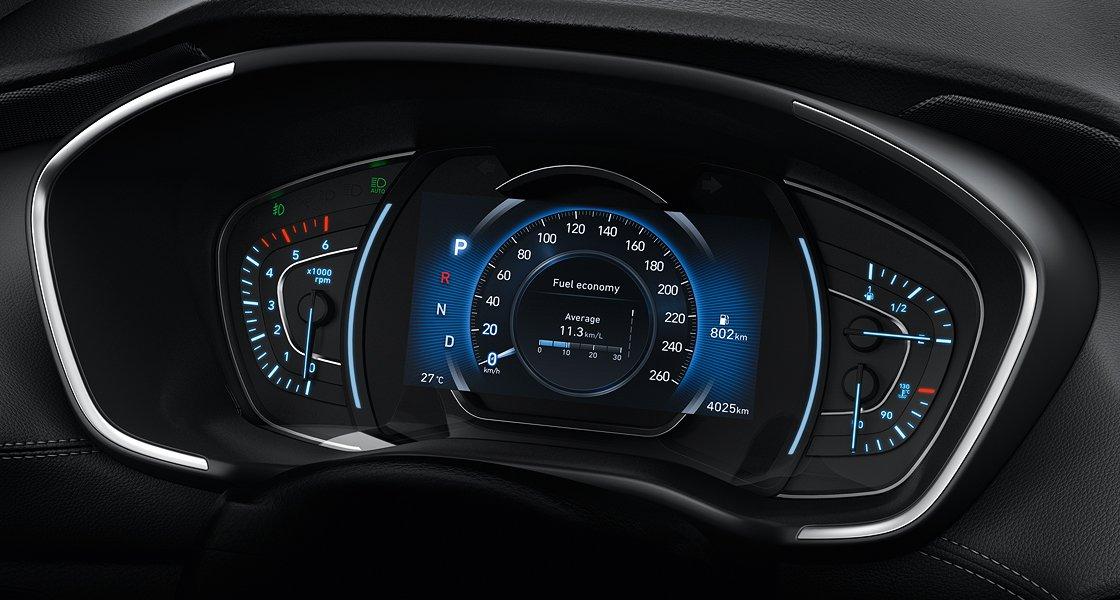 Hyundai Santa Fe 2019 trang bị nhiều tính năng hơn so với bản cũ a1.