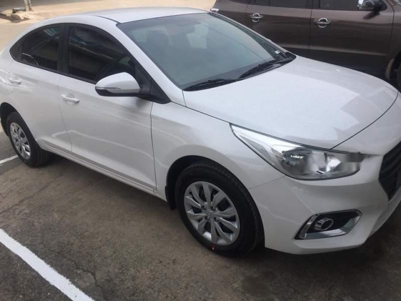 Cần bán xe Hyundai Accent Base 2018, màu trắng, giá 425tr-1