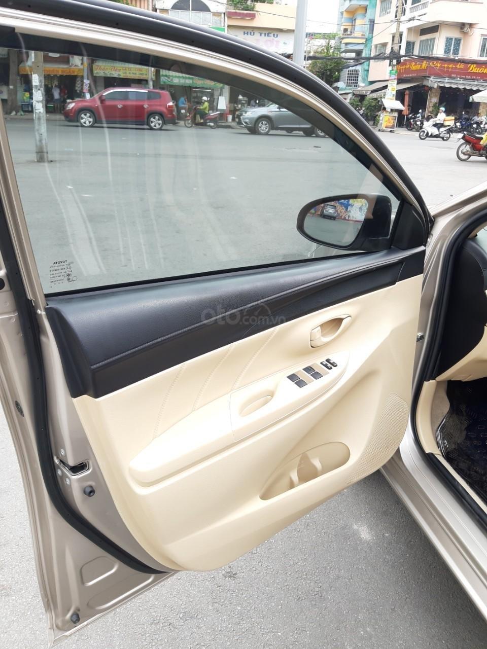 Bán xe Toyota Vios E model 2017, màu kem, nhập khẩu còn rất mới, giá 520tr-4